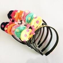 1 Pcs/lot Childen/Girls/Women/Lady Headbands Mouse Ears Hair Hoop Ribbon Bowknot Headwear Accessories