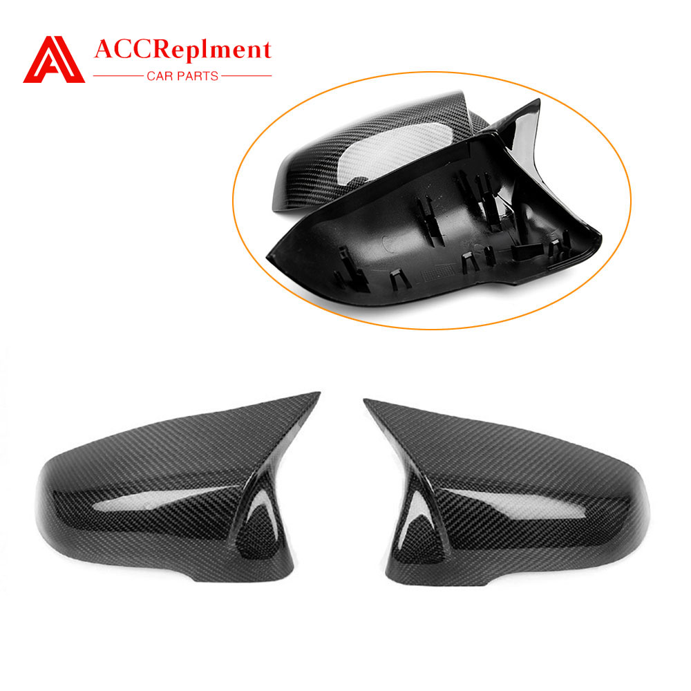 For <font><b>BMW</b></font> <font><b>X1</b></font> F48 F52 F39 F49 G29 Carbon Fiber Rearview Mirror Cover Cap 2016-<font><b>2019</b></font> image