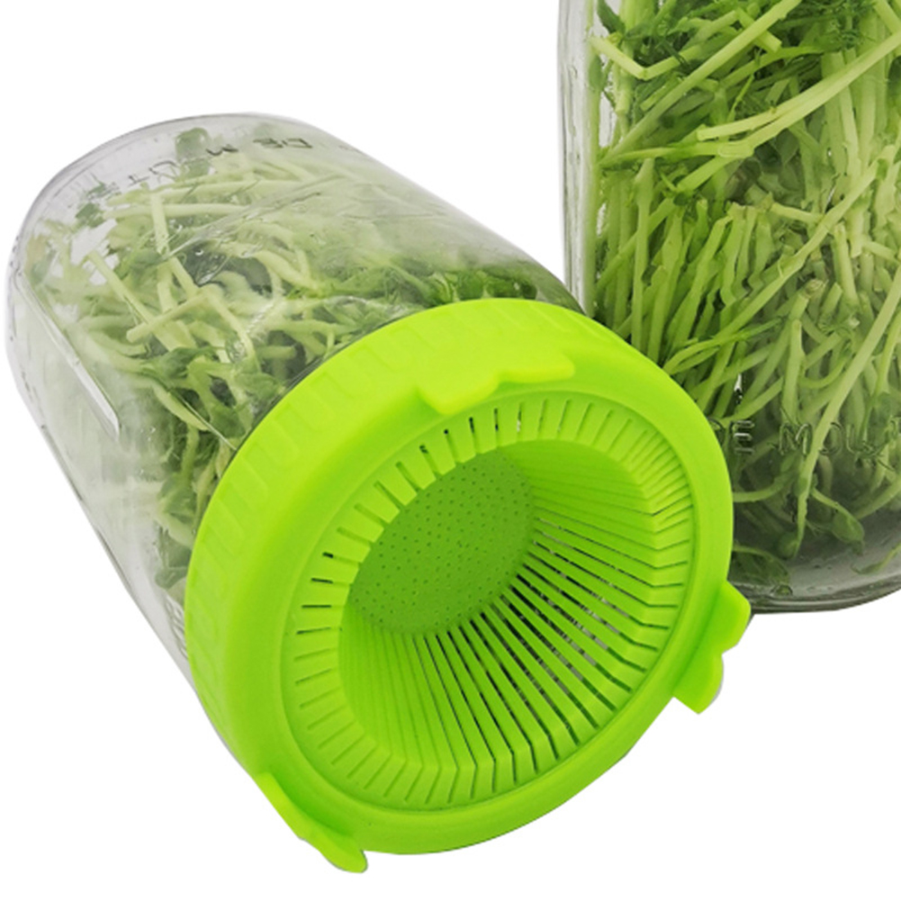 Sprouting Lid with Stainless Steel Screen for Wide Mouth Jar Sprouter Seed Germination Filter Sprouts tool Germination tools