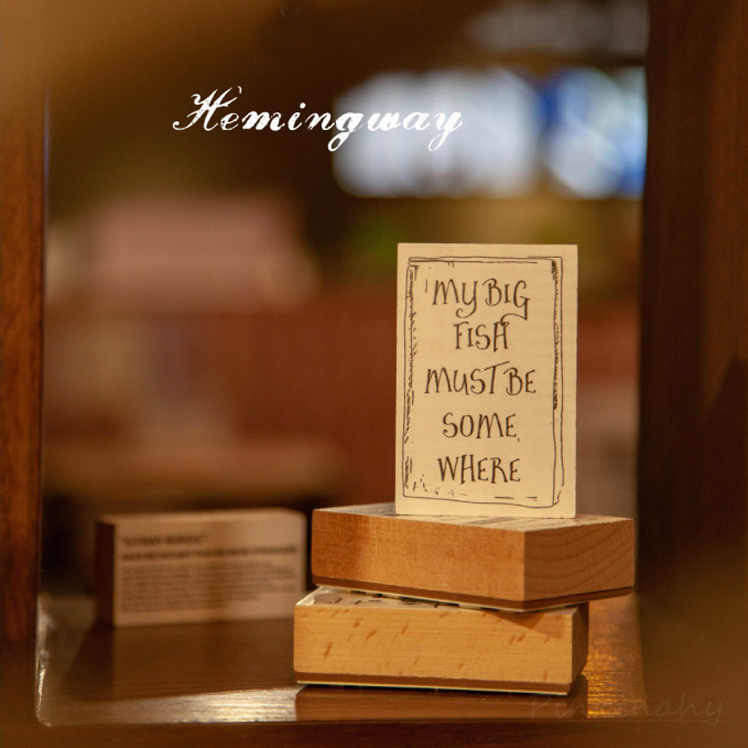 VINTAGE Library Series หนังสือนิทานภาษาอังกฤษแสตมป์ไม้ Planner ไม้แสตมป์ DIY Scrapbooking การ์ดตกแต่ง Embossing
