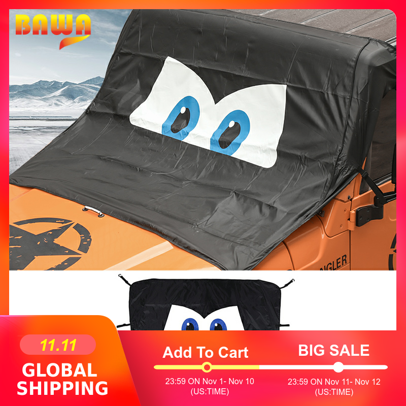 BAWA Car Windshield Anti Sunshad Snow Cover for Jeep Wrangler TJ JK JL 1997 2018 Frost Ice Shield Dust Protector Cover-in Car Covers from Automobiles & Motorcycles