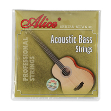 цена на Alice A616-L Acoustic Bass Strings Set 4 Strings Steel Hexagonal Core Coated Copper Alloy Wound Silver Ball-End for Bass Guitar