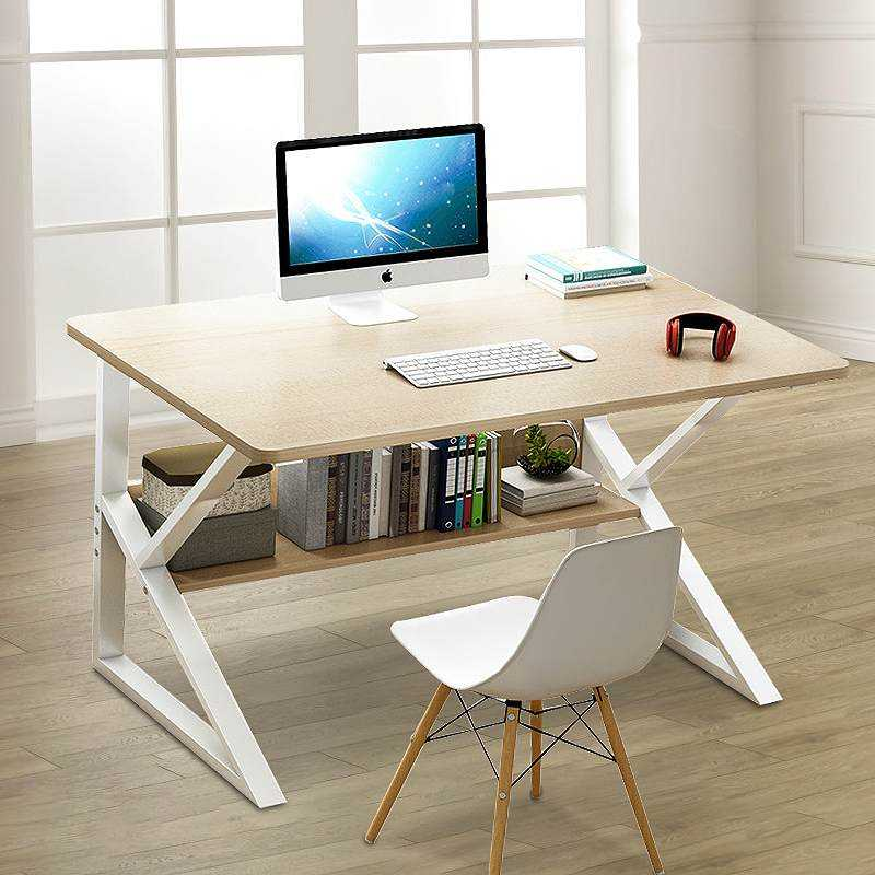 Laptop Desk Standing Computer-Table Bookshelf Wooden Living-Room Modern-Style Home Office