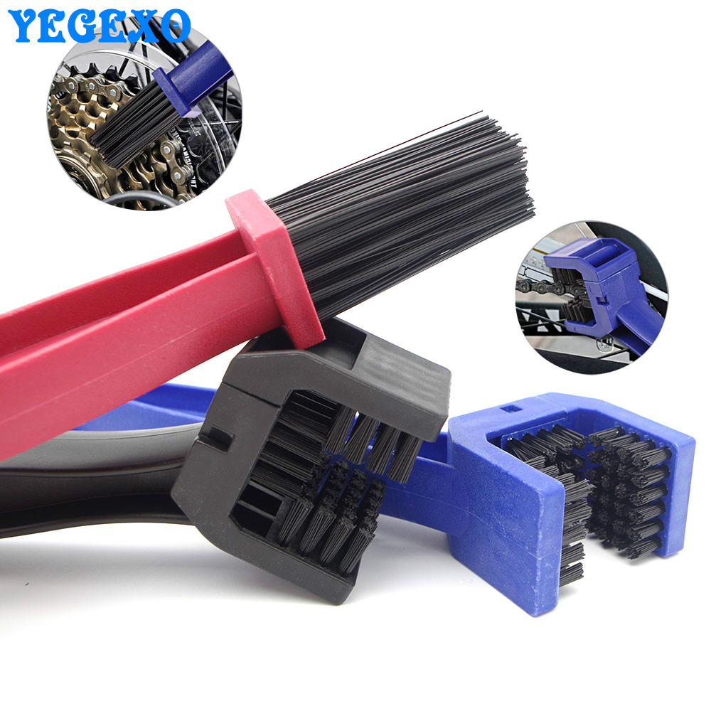 Motorcycle Chain Cleaning Brush Brake Dirt Remover Cleaning Brush Tool For kawasaki vulcan 1500 z900 <font><b>z1000</b></font> <font><b>2007</b></font> vulcan 900 er6n image