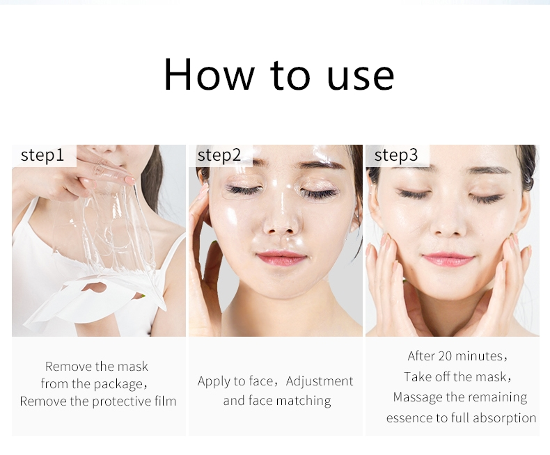 Fonce Gold collagen Facial Mask 10 Pcs Anti aging Moisturizing Rejuvenation firming whitening face mask