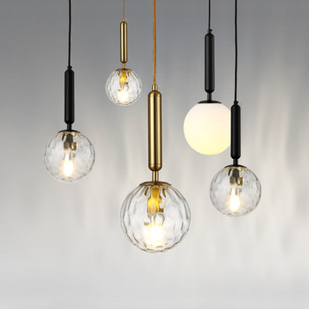 Modern Simple Nordic Glass Ball Single Head Three Head Creative Personality Bedroom Bedside Bar Dining Room Small Chandelier nordic transparent glass chandelier modern minimalist dining room bar cafe chandelier single headed ball chandelier