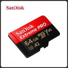 SanDisk extrême Pro carte Micro SD 256 go 512 go carte mémoire Flash jusqu'à 170 mo/s 64 go 128 go Class10 U3 V30 A2 cartao de mémoire