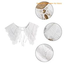 Exaggerated Big Pointed Collar Fake Collar Detachable Collars Lapel Blouse Top Women White Clothes Shirt Accessories