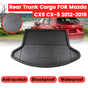 Car Interior Cargo Liner For Mazda CX-5 CX5 2012 2013 2014 2015 2016 Boot Tray Rear Trunk Cover Matt Mat Floor Carpet Kick Pad image