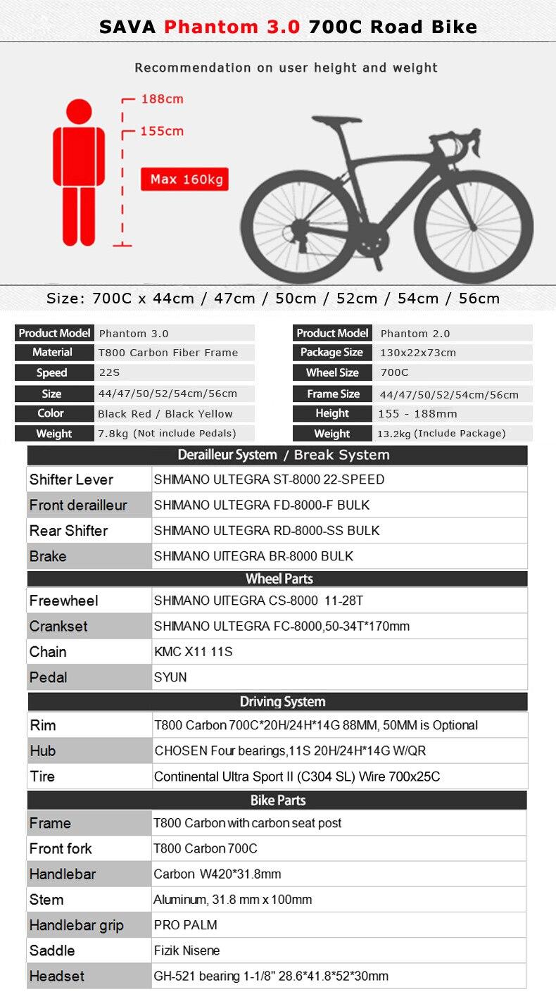 H9af1e1b479cb45778136bca551409a92V SAVA Carbon Road bike 700C Carbon Bike Racing road bike Carbon Bicycle with SHIMANO Ultegra R8000 22 Speed Bicycle velo de route