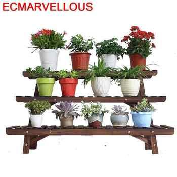 Madera Mueble Plantas Rack Table Estanteria Para Macetas Outdoor Stojak Na Kwiaty Dekoration Balcony Flower Shelf Plant Stand - Category 🛒 Furniture