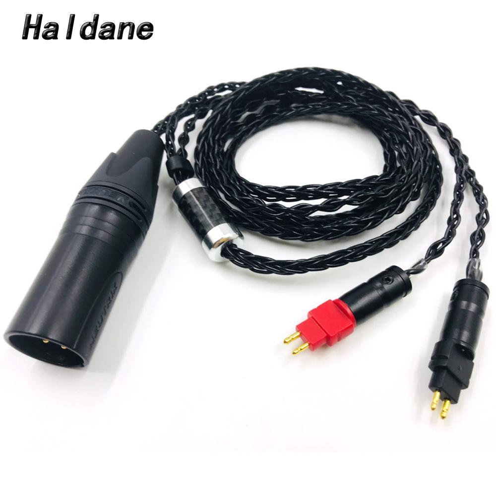 Haldane Hifi 8 Cores 4 Pin Xlr Male Balanced Headphone Upgrade Cable For Hd600 Hd650 Hd525 Hd545 Hd565 Hd580 Hd6xx Headphones Earphone Accessories Aliexpress