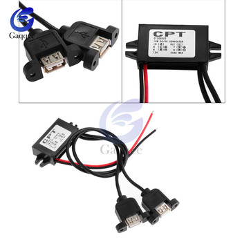 DC-DC 5V Power Converter For Car battery Micro Mini USB Step Down Voltage Power Supply Output Adapter Low Heat Auto Protection image