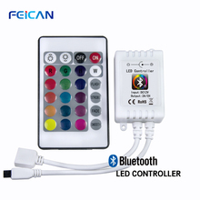 DC12-24V Mini 24Keys RGB Controller IR Remote Wifi RGB LED Controller By Android and IOS APP For 3528 5050 RGB LED Strip Light все цены