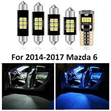 13Pcs ใหม่รถอุปกรณ์เสริมหลอดไฟ LED ภายในชุดสำหรับ2014  2017 Mazda 6แผนที่โดม Step/มารยาทใบอนุญาต