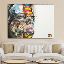 Sandra Chevrier The body cage up to canada copy Artwork Printed portrait painting Canvas Painting For Living Home Decor Unframed