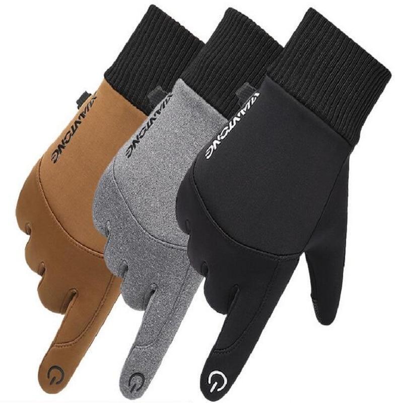 Зимние мужские и женские водонепроницаемые лыжные нескользящие перчатки для езды на открытом воздухе и альпинизма теплые спортивные бархатные перчатки