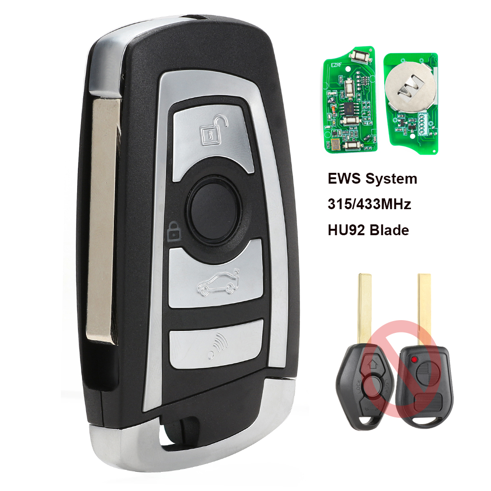 Image 2 - Keyecu EWS Modified Flip Remote Key 4 Button 315MHz/433MHz PCF7935AA ID44 Chip for BMW E38 E39 E46 M5 X3 X5 Z3 Z4 HU58 / HU92-in Car Key from Automobiles & Motorcycles