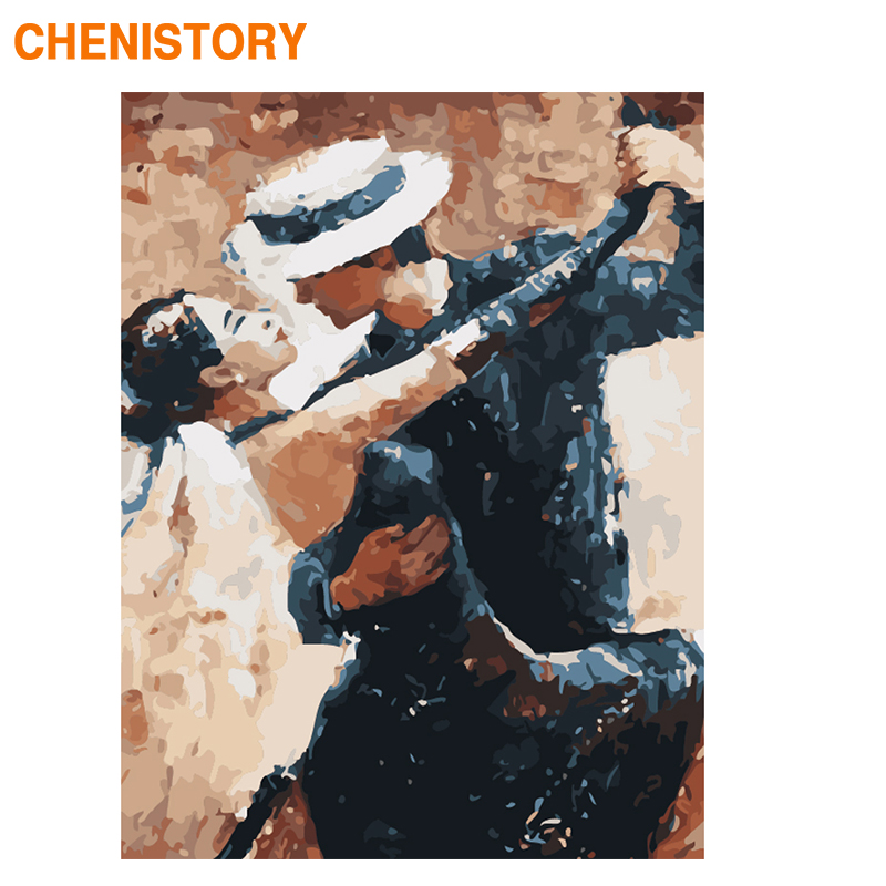 CHENISTORY Picture DIY Painting By Numbers For Adults With Frame Tango Paint By Numbers Wall Art Hand Painted Painting For Home