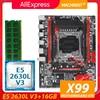 X99 desktop motherboard LGA 2011-3 set kit with xeon E5 2630L V3 processor and 16G(2*8G) DDR4 RAM memory mainboard X99-RS9 1