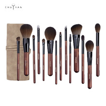 CHUYAN make-up-brush set 14/12/6pcs  beauty makeup tools high quality natural synthetic hair brushes kit face eyeshadow blush