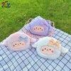 Kawaii Sheep CrossBody Shoulder Bag Coin Purse Wallet Plush Toys Stuffed Animals Doll Kids Children Girls Women Birthday Gifts