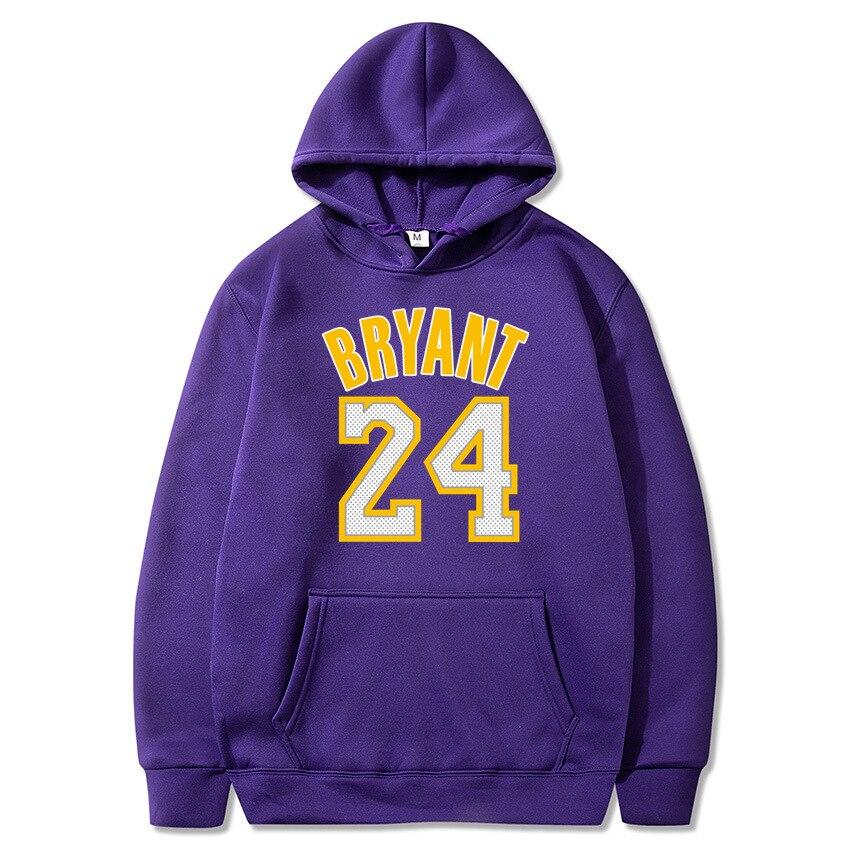 new hoodie sweatshirt men Basketball sport hoody 24 kobe bryant printed Pullovers Winter hoodies off white