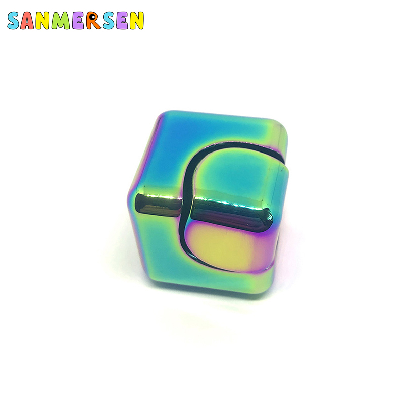 Cube Finger Gyro Toys Alloy Metal Spinner Anti-Anxiety Helps Focusing Premium Quality Focus Educationa Toy for Kids Adults enlarge