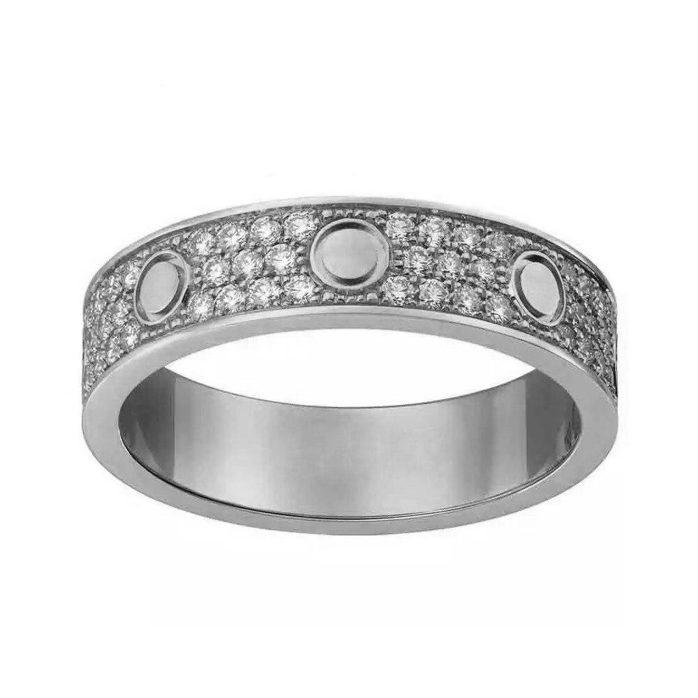 Horizontal Line Screw CZ Love Rings for Women Men Cubic Zirconia Ring Wedding Bands Aneis Anel Bague Free Shipping