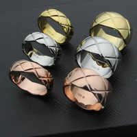 Heißer Verkauf Schneiden Getreide Rose Gold Farbe/Gold Farbe/Silber Farbe Edelstahl Ringe
