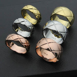 Rings Stainless-Steel Cutting-Grain Hot-Sale Gold-Color/silver-Color