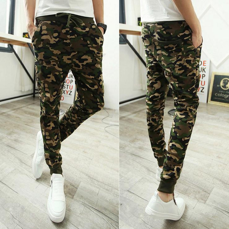 Special For Spring And Autumn New Style Men Korean-style Fashion Camouflage Athletic Pants Versatile Skinny Pants Casual Beam Le