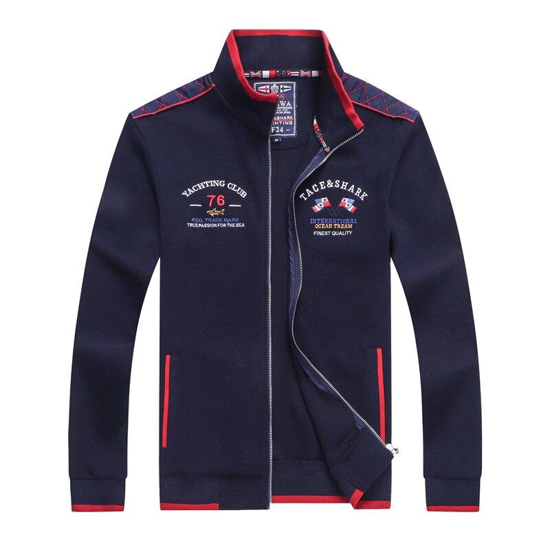 Jacket Men Fashion Casual Mens Business Shark Embroidery Jacket Sportswear Bomber Jacket Mens Coats Homme mens jackets and coats