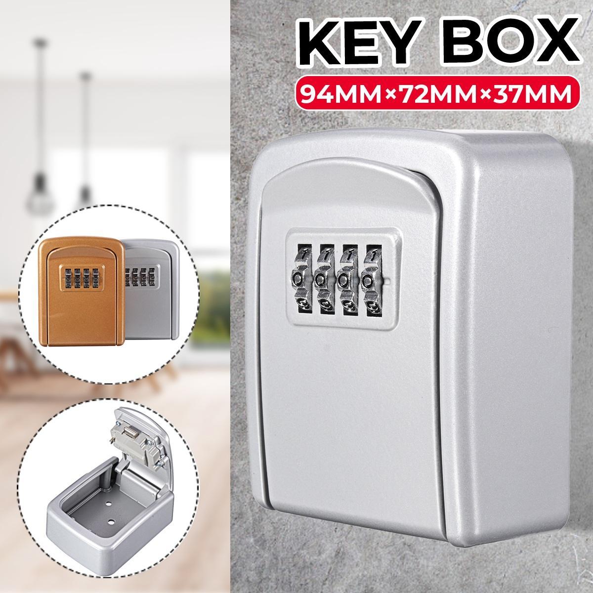 Замок для ключей, настенный, цинковый сплав, сейф для ключей, защита от атмосферных воздействий, 4 цифры, Комбинированный Замок для хранения ...