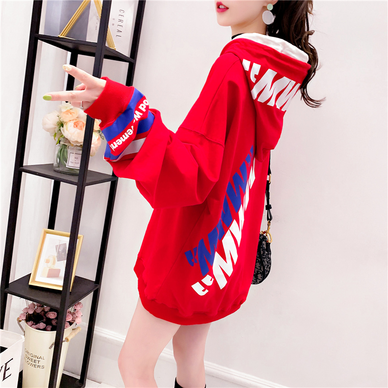 2020 spring new Korean net red loose lazy wind women's hoodie long sleeve shirt Hong Kong style chic coat