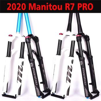 Manitou R7 PRO Bicycle Fork 26 27.5 inches Mountain MTB air Bike Fork Matte Black Suspension 2019 High Quality bicycle air fork 26 27 5 29 er mtb mountain suspension fork air resilience oil damping line lock for over sr suntour epixon