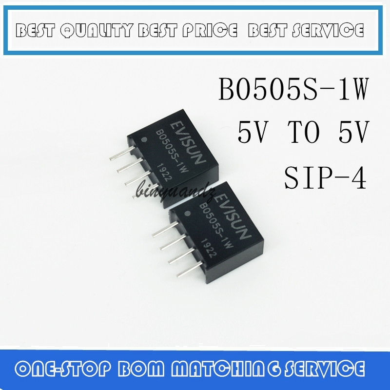100PCS DC DC Isolation Power Module B0505S 1W B0505S B0505 SIP 4 5V to 5V-in Battery Accessories & Charger Accessories from Consumer Electronics    1