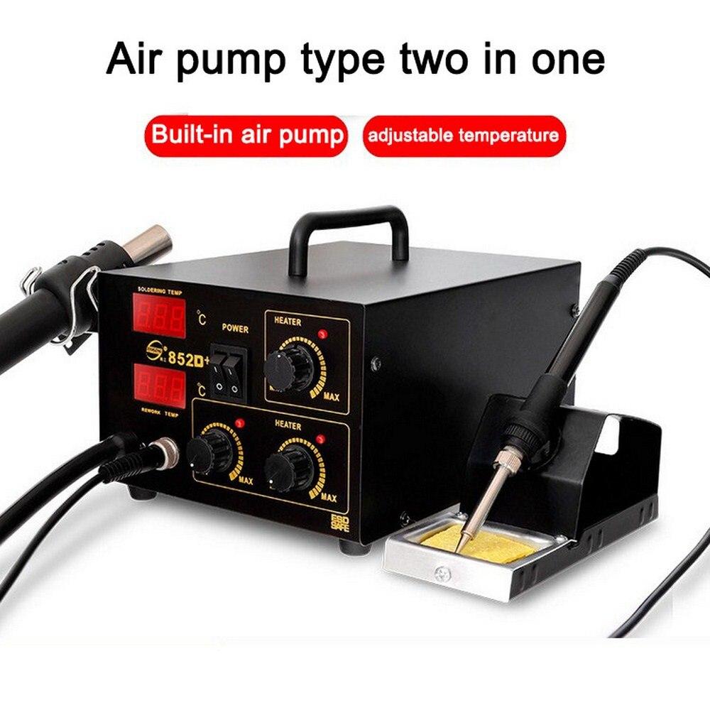 Station de dessoudage à air chaud station de dessoudage à air chaud station de reprise de fer électrique se réchauffant rapidement avec de la chaleur importée