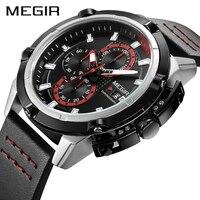MEGIR Relógio Militar Do Exército Do Esporte Dos Homens do Cronógrafo de Quartzo Relógios Dos Homens Top Marca de Luxo do Relógio Criativo Relógio Homens Relogio masculino