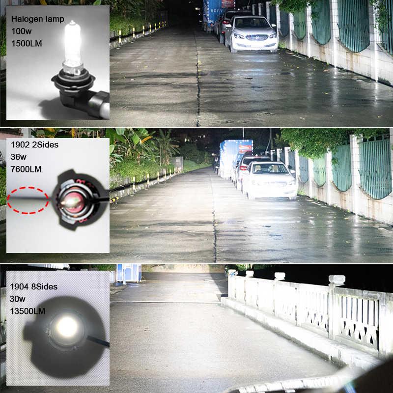 Roadsun 8 הצדדים 14000LM H8 H11 ערפל אורות H7 led פנס H1 H3 HB4 9005 CSP שבב הנורה רכב אורות 6000k led אורות אוטומטי 12V