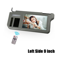 9 inch Left Side Car Video Sunvisor Screen Lcd Monitor With Rear View Mirror For DVD/VCD/GPS/TV Input Signal Rearview Camera