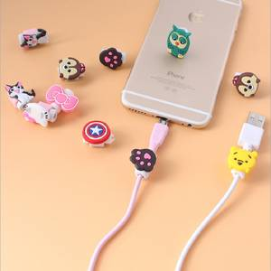 Protector Wire-Cover Cable-Winder-Protective-Case Earphone Cartoon Charger Saver Data-Line