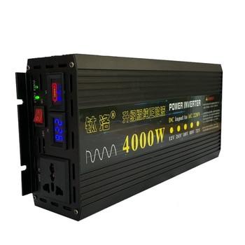 Inversor de onda sinusoidal pura de 4000W para uso doméstico, amplificador fotovoltaico de alta potencia 12V 24V 48V 60V giro 220V, pantalla inteligente doble digital