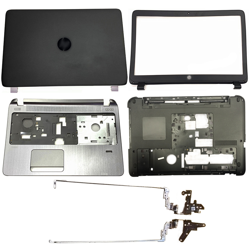 NEW Laptop LCD Back Cover/Front Bezel/Hinges/Palmrest/Bottom Case For HP Probook 450 G2 455 G2 768123-001 AP15A000100