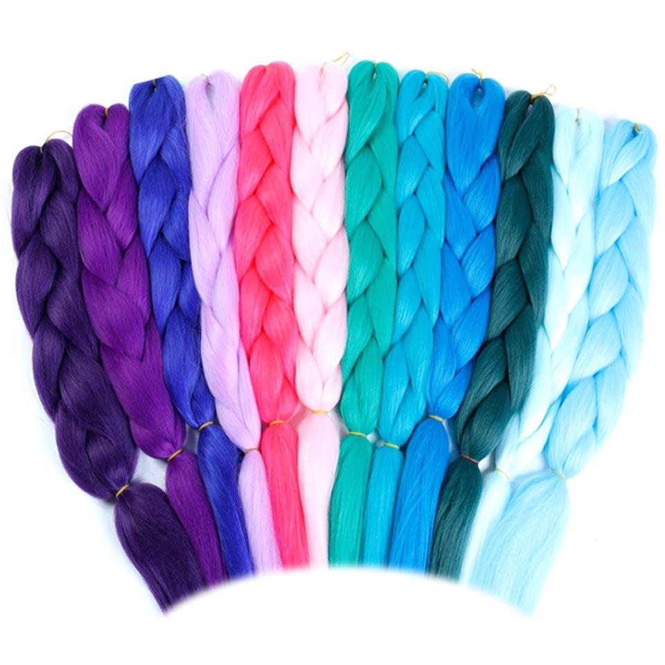 JINKAILI WIG Monochrome Color Expression Jumbo Crochet Braids 24