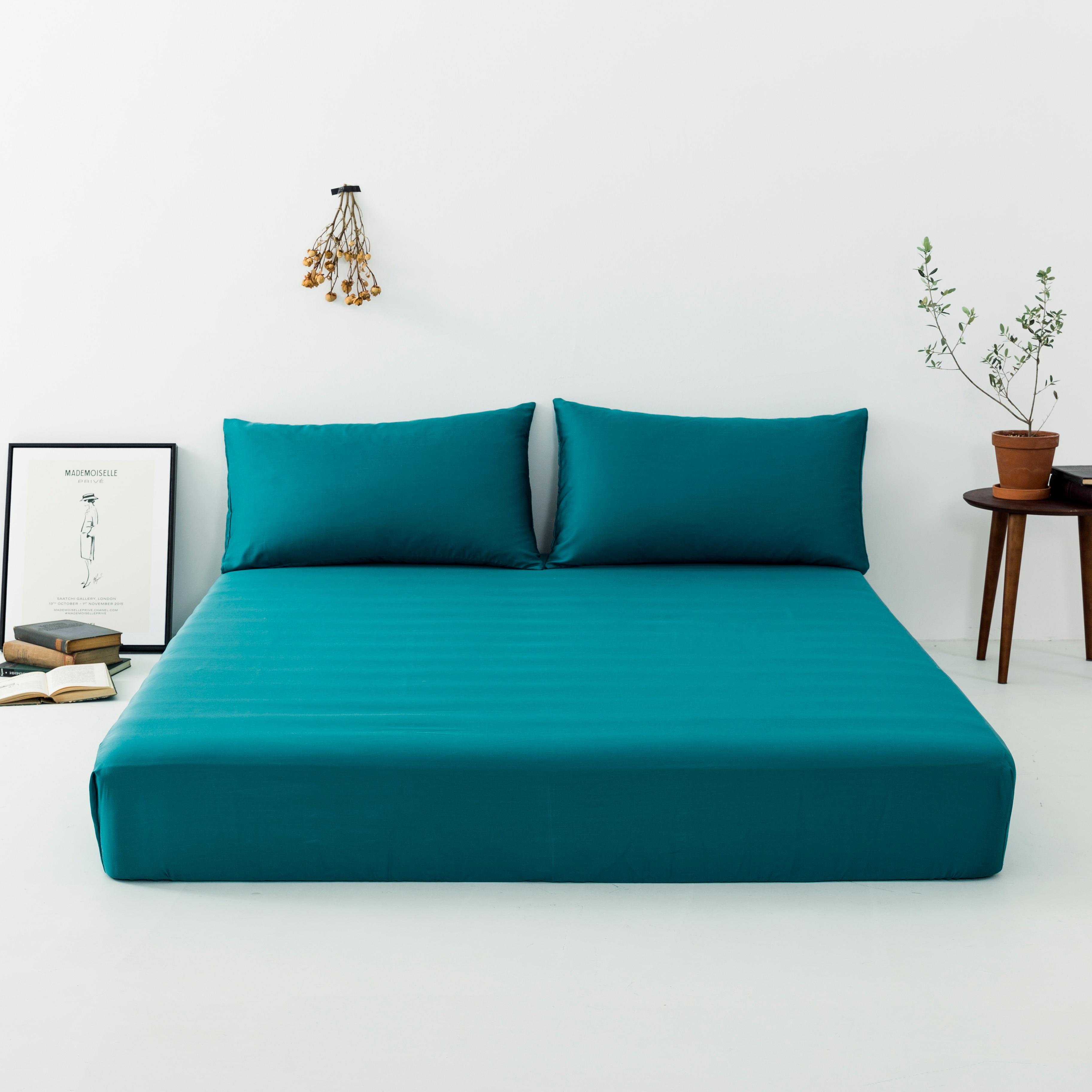 Liv Esthete Luxury Green 100 Mulberry Silk Fitted Sheet Silky Mattress Cover Queen King Bed Sheets Pillowcase For Women Men in Sheet from Home Garden