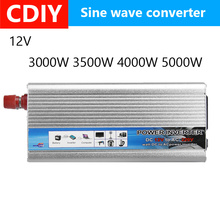 Hot 5000W-3000 Watt Solar Power Inverter DC 12V to AC 220V USB Modified Sine Wave Converter Car Power Inverter Charger Adapter solar power inverter 600w peak 12v dc to 230v ac modified sine wave converter