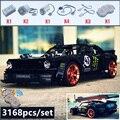 2019 Nieuwe 1965 Ford Mustang Hoonicorn Racing Auto fit Technic MOC-22970 FIT 20102 bouwsteen bakstenen kid speelgoed gift