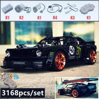 2019 New 1965 Ford Mustang Hoonicorn Racing Car fit Technic MOC-22970 FIT 20102 building block bricks kid toys gift