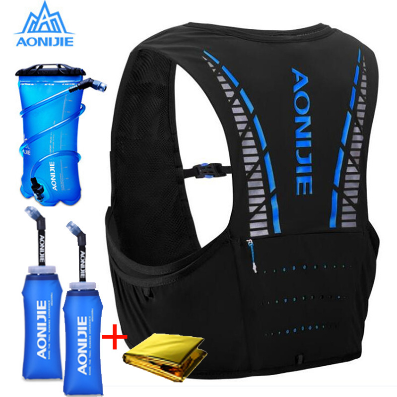 AONIJIE C933 5L Hydration Pack Backpack Rucksack Bag Vest Harness Water Bladder Hiking Camping Running Marathon Race Climbing